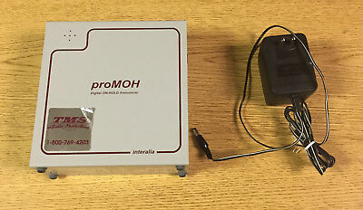 Interalia proMOH Digital On-Hold Announcer Device, Part# P-PM4-A, with Adapter