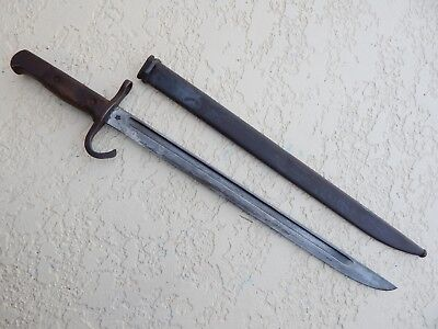 Ww2  Japanese Type 30  Early Hooked Bayonet & Scabbard