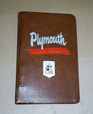 1954 1955 1956 Plymouth Dealer Salesman's Data Book Binder Mopar Fury Belvedere