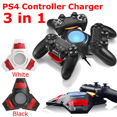 USB Double MANETTE Chargeur Station support Stand Playstation PS4 console jeux