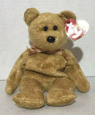 "9bb17113318 New 2000 Ty Beanie Baby Babies -8.5"" Cashew The Bear- Retired"