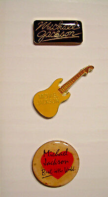 Michael Jackson Vintage Pins from the 80's