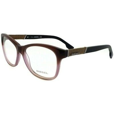b254abb2dffb Diesel DL5085-047-54 Rectangle Women's Brown Frame Clear Lens Genuine  Eyeglasses