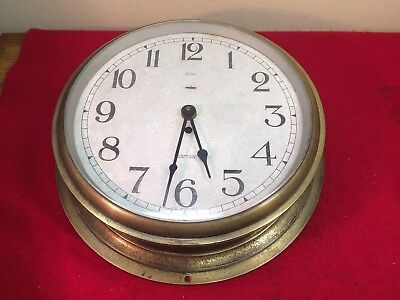 Sestrel Henry Browne & Son England Brass Ship's Clock