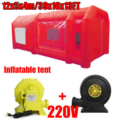 39x16x13Ft Inflatable Spray Paint Booth Custom Tent Car + Filtration System+ Fan