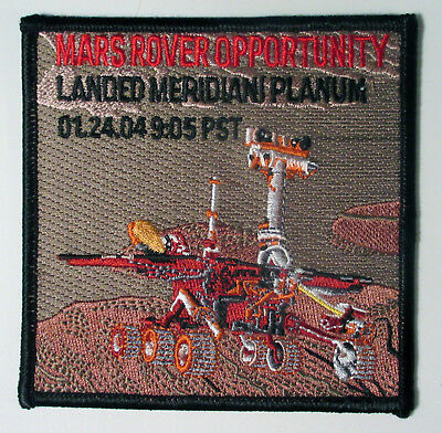 MARS Exploration Rover Opportunity Landing Commemorative 2004 NASA JPL Patch CA