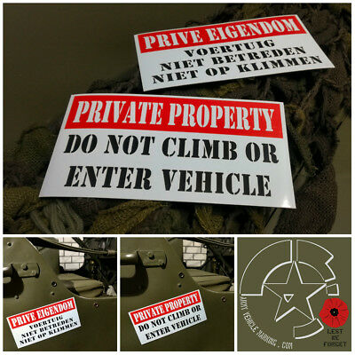 Vehicle Car Magnet 8x4 inches - PRIVATE PROPERTY - DO NOT CLIMB OR ENTER VEHICLE