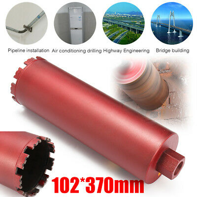 """4"""" Dry and Wet Diamond Core Drill Bit Set Red for Concrete Masonry M22 Threads"""