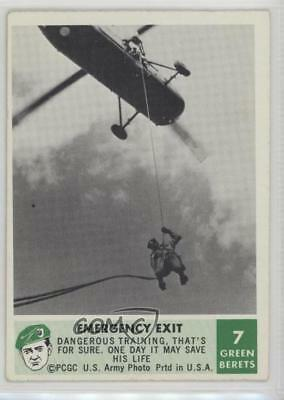1966 Philadelphia Men of the Green Berets #7 Emergency Exit Non-Sports Card 2u3