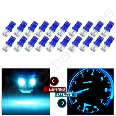 20PCS 5050 5SMD LED T10 2825 194 Ice Blue License Plate Lights Bulbs For Toyota