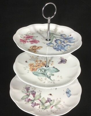 Lenox Butterfly Meadow Three Tier Server - New with Sticker