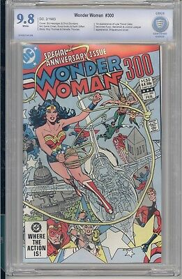 Wonder Woman #300 CBCS 9.8 White Pages DC 1983 First Fury, Anniversary Issue