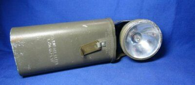 WWII Army, Navy, USMC Flashlight by Justrite Manufacturing
