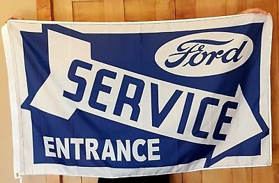 Ford Service Mustang Roush 3' X 5' Polyester Flag Banner Man Cave Bar 5.0 Cobra