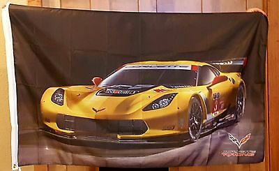Corvette Gelb C-7 Auto Flagge 3'X 5'Indoor Outdoor Auto Banner Racing Team Jake