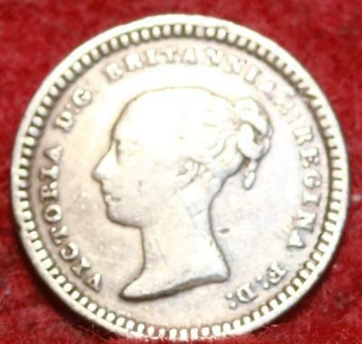 1843 Great Britain 1 1/2 Pence Foreign Coin
