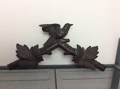 Carved Large  German Black Forest Cuckoo Clock Crown Topper