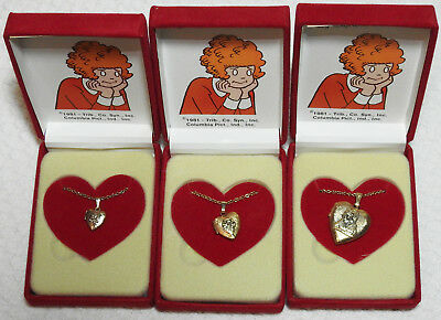 1981 Little Orphan Annie Locket Necklaces by Supreme Creations - Three Sizes