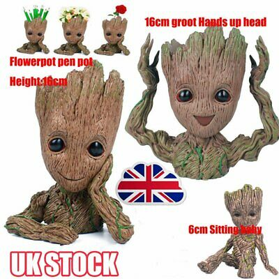 Guardians of The Galaxy Baby Groot Figure Flowerpot Pen Pot Toy Decor Kid Gift Y