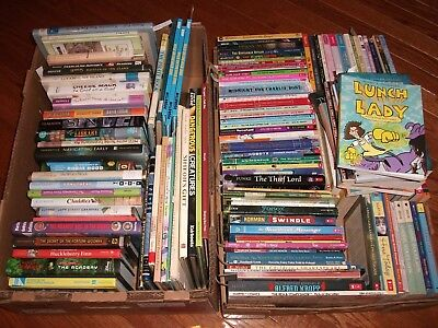 Nice Lot of 10 Children Kids Books Random Mixed HC SC Homeschool Age 8-12 Gr 3-7