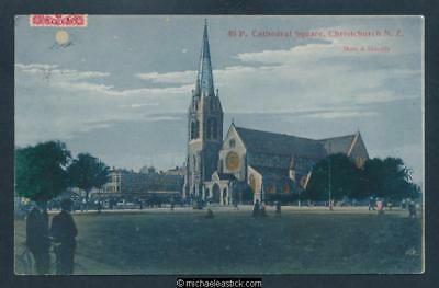 New Zealand Cathedral Square, Christchurch No.48 Muir & Moodie Postcard