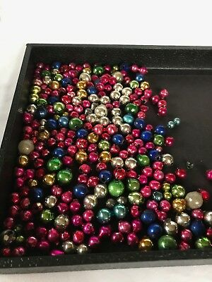 Vintage 200+ Lot Loose Mercury Glass Christmas Beads for Garland or Icicles #30