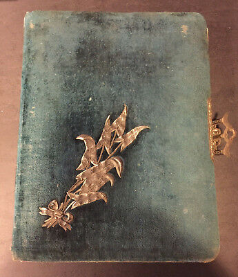 1880's CABINET Photo Album with 28 photos Rockford, MI INSTANT Family stunning