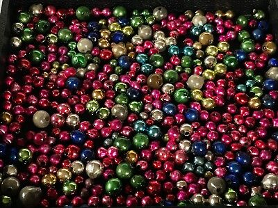 Vintage 300+ Lot Loose Mercury Glass Christmas Beads for Garland or Icicles #23