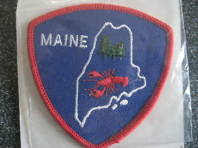 MAINE Patch Emblem souvenir Iron-on US travel Lobster Trees NEW Voyager Multiple