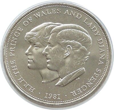 1981 Charles and Diana Royal Wedding Commemorative CoinBRITISH CROWN. As new