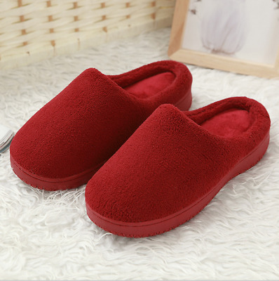 Women's Memory Foam Slip On Slippers Comfy Plush Lined House Shoes Anti-Skid