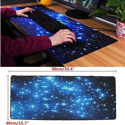 90x40cm Galaxy Star Sky Rubber Gaming Mouse Pad Anti-Slip Large Mousepad Mat
