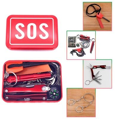 Outdoor Indoor Emergency Equipment SOS Kit First Aid Box Survival Gear Kit Set