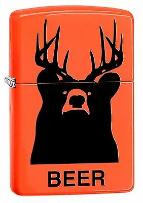 Zippo Windproof Lighter, Bear with Antlers, Beer Bear, 29343, New In Box