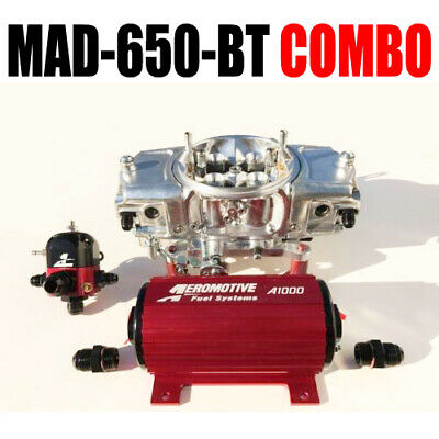 Mighty Demon MAD 650 BT Anulare Meccanico Blow Thru Carburatore Pompa Reg Combo