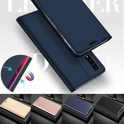 For Samsung Galaxy A9 A8 A6 A7 2018 S9 Magnetic Wallet Card Slot Flip Case Cover