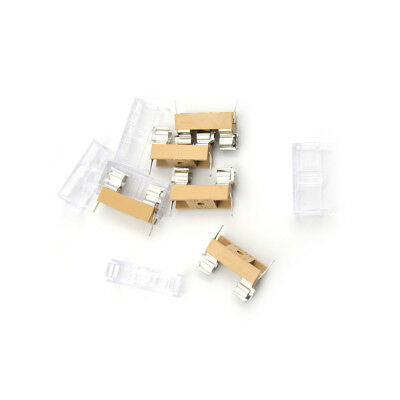 5PCS Panel Mount PCB Fuse Holder With Cover For 5x20mm Fuse 250V 10A_F