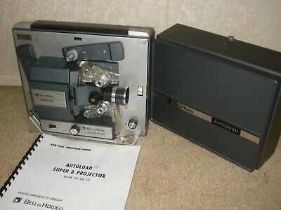 Vintage Bell & Howell Autoload 357B Super 8MM Film Projector Service Instuctions