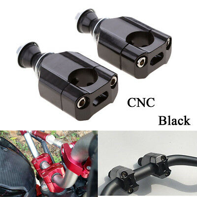 1 Pair 28mm 1 1/8'' Universal Motorcycle Handle Bar Mounts Clamp Riser Aluminium