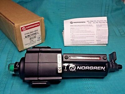 New Norgren Excelon F73G-3AD-QD3 Particulate Air Filter 3/8 NPT Ports 250 Psi