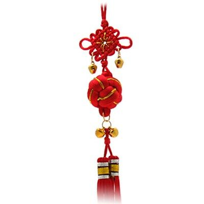 1X(Oriental Ball Chinese Knot Tassel Ornament with Bells I4C2)