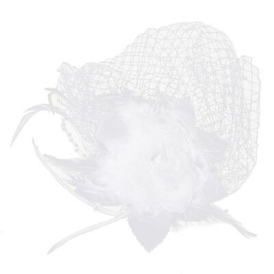 1X(Flower and Feather Birdcage French Network Bride Wedding Veils Fascinato V7J0