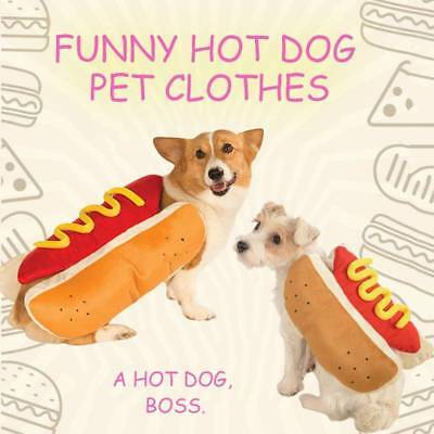 Hot Dog Pet Dog Costume Mustard Cat Clothes Outfit For Small Medium Gift