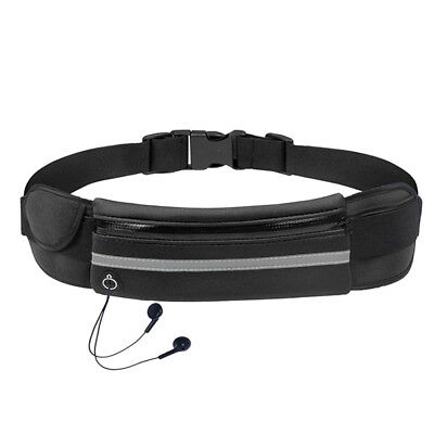 Waterproof Running Belt Bum Waist Pouch Fanny Pack Camping Sport Hiking Zip Bag`