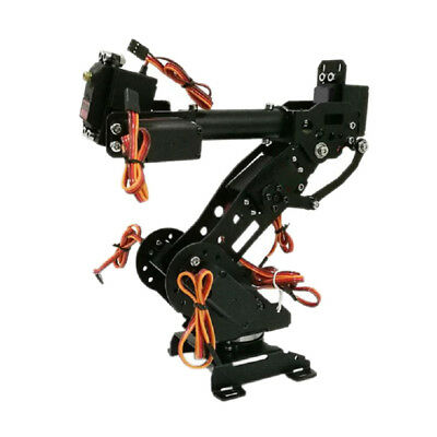 Wireless 8 DOF Robot Arm Gripper Kit High Torque Servo Power Suite Black