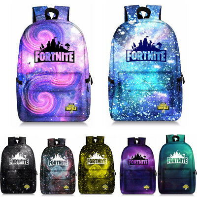 Adults Teenager Fortnite Battle Royale Backpack Rucksack School Bag Galaxy Color