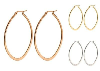 7941fb1045269 SURGICAL STAINLESS STEEL Hypo-Allergenic ROUND Hoop Drop Earrings ...