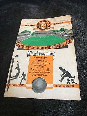 Wolves Vs Bournemouth & Boscombe Athletic 1956/57 FA Cup 4th Round
