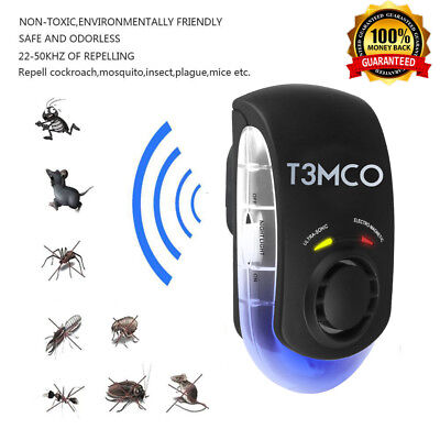 Ultrasonic Pest Repeller UK / EU Plug in Rodent Mouse Rat Spider Insect Control