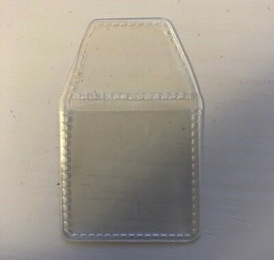 Strong Clear PVC Plastic Coin Wallet Storage Envelope Case Bag 35x35mm